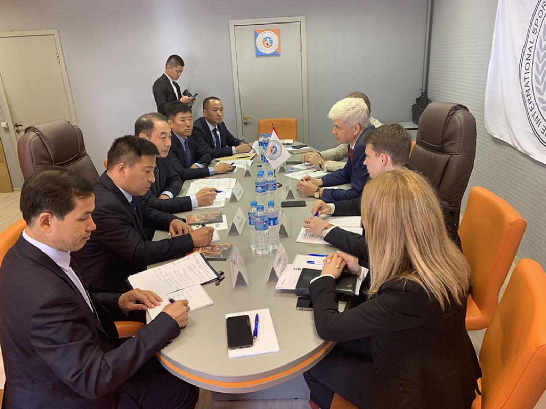 The delegation of fire and rescue service of China visited Moscow